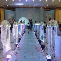 Granel Elegante Espumante Cristal claro guirlanda candelabro bolo de casamento suporte de festa de aniversário decorações para tampo da mesa centerp