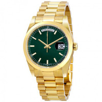 9 colors 41mm Green Dial Automatic glide smooth 18K Yellow G...