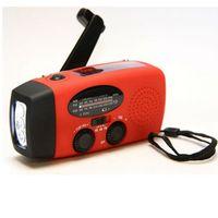 AM / FM / WB Radio solaire lumière solaire d'urgence Manivelle Puissance 3 LED lampe de poche torche électrique Dynamo lampe d'éclairage lumineux ZZA392