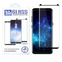 3D Kenarlar Ekran Koruyucuları Tam Kapak Cam Kılıfları Samsung S21 S20 Için Ultra Not 20 10 9 8 S10 Artı S10E S8 S9 S7 Kenar S6 W Paket