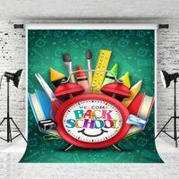 5x7ft Çocuk Okul Teması Parti vur Studio Okul Backdrop Öğrenme Aracı Çalar Saat Fotoğrafçılık Arka Plan için Geri Welcome Rüya