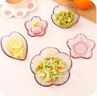 Piatti di vetro petalo creativo fiore giapponese rosa speciali set di stoviglie set piatti piatti