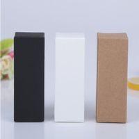 Cartón rectángulo embalaje botella ambiental kraft papel caja esencial aceite embalaje caja agua botella envoltura wy445q