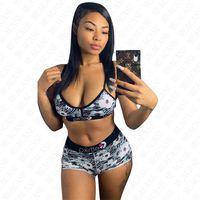 Diseñador de las mujeres del traje de baño de 2 piezas sujetador de leopardo y pantalones cortos de baño ajustable Sling Bikini de trajes de baño de la playa Piscina de baño Traje D61515
