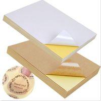 Gul bakgrundspapper Hög viskositet A4 Klistermärke Brown Papper Förpackning Etikett för laserbläckstråleskrivare 4 Färg