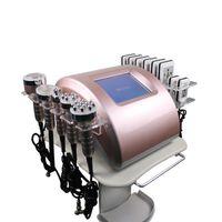 جودة عالية جديد نموذج جديد أفضل نتيجة آلة ذهبية المهنية المحمولة 6 في 1 بالموجات فوق الصوتية 40K التجويف RF فراغ منصات الليزر التخسيس م