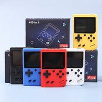 Console de jeu vidéo de poche 400-en-1 Conception rétro 8 bits avec 3 pouces Color LCD et 400 jeux classiques -Supports de deux joueurs, sortie AV (câble inclus)