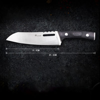 Qualitäts-Küche-Werkzeuge 12-Zoll-Edelstahl-Profi Kochmesser Holzgriff Slicing Frucht-Gemüse-Fleisch Sharp Kochmesser