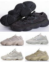 2019 hommes femmes 500 dessert rat kanye sport chaussures de course blush sel os blanc super lune jaune utilitaire noire yakuda formation baskets boot