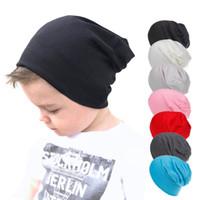 طفل شارع قبعات الأطفال بنين بنات الهيب هوب قبعة الخريف التريكو الربيع الدافئة كاب القطن طفل الاطفال قبعات أسود أزرق أحمر الرأس
