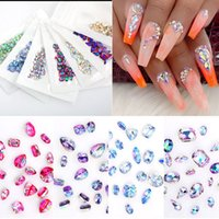 Crystals Clear AB Glass Nails Art Rhinestones Stones For 3D ...
