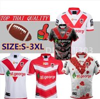 Nouveau 2019 St George RUGBY JERSEY 19 20 St George Illawarra Maillot de football XBLADES DRAGONS Ligue Nationale de Rugby St George Jersey taille s-3XL