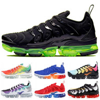 2019 Nike Vapormax TN Plus Rainbow Chaussures De Course Hommes Femmes Grape Tropical Sunset Ultra Blanc Noir Chaussures De Designer Sport Baskets De Sport