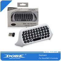 Hohe Qualität DishyKooker DOBE TYX-586S XBOX One / dünne drahtlose Game-Controller-Keyboard mit 3. 5mm Kopfhörer Jack DHL-freies Verschiffen