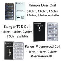 100% Original Kanger Ny Dual Coil Replacement Protank T3S Coils för Kangertech Genitank Emow Aerotank Mega T3D Evod 3 mini Protank 2 T3S