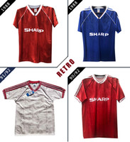 1988 1991 1992 Shirts Football Stati 91 92 via bianco calcio maglie Vintage MAN UTD Paul Ince Robson Hughes Camiseta