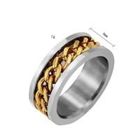 남성 힙합 보석 핫 새로운 패션 고급 디자이너 고유의 체인 티타늄 스테인레스 스틸 반지