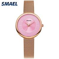 여성 시계 럭셔리 브랜드 Smael 시계 여성 디지털 캐주얼 방수 쿼츠 손목 시계 1908 소녀 방수 방수