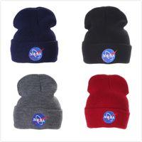 Moda personalidad de la NASA Wool Street dance tejer gorro Europa y América al aire libre Mantenga una gorra de esquí caliente