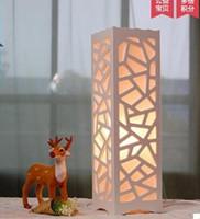 جديد بيع المباشر النسيج ce الحديثة الصمام ديكور مصباح الخشب مصباح نوم الأزياء والفوانيس من bedsid A01