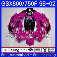 Lichaam voor Suzuki GSXF 750 600 GSXF750 1998 1999 2000 2001 2002 292HM.71 GSX 600F 750F KATANY GSXF600 ROSE PINK STOOD 98 99 00 01 02 FUNLING