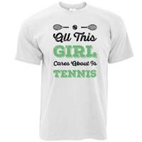 69874f2d7 Wholesale tennis shirts designs online - All This Mädchen Sorgen About Is  Tennis bedruckt Spruch DESIGN