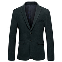 2020 Spring Fashion wool Blazer Men Casual Male Slim Fit coa...