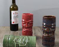 Creativo Tazza di vino rosso Maschera Creativa Tiki Tazza da cocktail Tazza da birra Boccale da vino Tazze di ceramica Artigianato creativo Tazze di Hawaii
