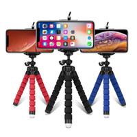 Tripés tripé para câmera do telefone móvel titular clipe de smartphones monopé tripe ficar polvo mini-Stativ tripé para o telefone