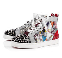 8b4bcad62fb1 Hot Sell Men Women Luxury Shoes Red Bottom Sneakers high- top.