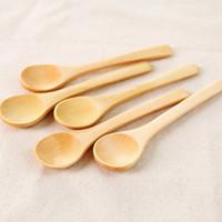 خشبي ملعقة حساء صديقة للبيئة أدوات المائدة سكوب القهوة العسل الشاي جولة رئيس خشبية ملعقة النمام عالية الجودة HHA11325