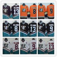 Mighty Ducks of Anaheim  13  9 Paul Kariya  8 Teemu Selanne 1995-96 White  CCM Stitched Vintage ice Hockey Jersey adult size 42dbff8f7