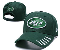 Top Fashion Men Women Sports Hat NY Letters Jets Golf Visor Gorra de béisbol Snapback Fit Hip Hop Fashion Street Summer Sombreros Varios colores Gorras