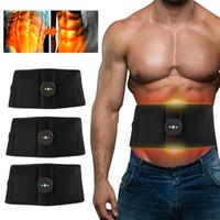 ABS البطن التنغيم حزام الاهتزاز الكهربائية الاهتزاز مدلك التخسيس الجسم حزام العضلات مشجعا مدرب الخصر دعم