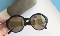 Noir Lunettes de soleil 5410 Round Mirror Shades masque occhiali da sole féminin Nouveau avec la boîte