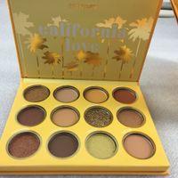 MAIS NOVO Colourpop California Love Paleta 12 Cores Maquiagem cor Set laranja abóbora Eyeshadow Palette frete grátis