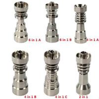 Titan Nail 10mm14mm19mm Gelenk 2 IN 1 4 IN 1 6 IN 1 Domeless Titan Nagel Für Männliche und Weibliche DHL