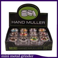 Tütün Öğütücü 2 Katmanlı Mini Metal Öğütücüler El Muller Kuru Herb Öğütücü Için 30mm Çap Sert Üst Küçük Bitkisel Öğütücü 24 ADET Lot