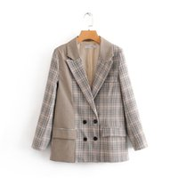 womens blazers coat autumn new style suit double breasted st...
