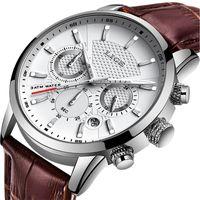 LIGE 2019 Nouveau Montre Homme Mode Sport Quartz Horloge Montres Hommes Marque de luxe en cuir d'affaires montre étanche Relogio Masculino V191116