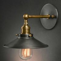 Lampes murales industrielles vintage chevet antique lampe murale salon simple-tête s'allume lampes de bar de mode vintage lampe d'appoint rétro Applique