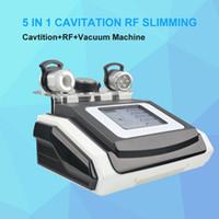 Pro 40K cavitación ultrasónica celulitis levantamiento de la piel Eliminación de radiofrecuencia RF Multipolar vacío corporal adelgazante máquina de ultrasonido