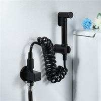 Schwarz Messing Handheld Bidet Spray Reinigung Sprayer WC Bidet Wasserhahn Dusche Spray