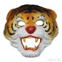 Tiermaske Affe Tiger Wolf Maskenkörper Halloween-Kostüm-Kugel Bar Leistung Dekorieren Supplies Resilience Gut Haltbare weiche 8lwC1 ist