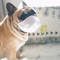 6pcs Pet Protective Mask Three-layer Non-woven Anti-fog Breathable Face Mask For Proboscis/Short Nosed Dogs Mouth Muzzle Anti Bark Bite Chew