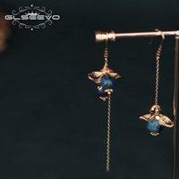 Regalo di compleanno amanti Enagement monili etnici del GLSEEVO mano Kyanite naturale asimmetrico orecchini di goccia per le donne GE0765 CX200611