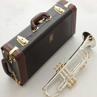 Baja calidad Mejores LT180S-72 Trompeta Sib latón plateado Profesional trompeta Instrumentos musicales con estuche de cuero