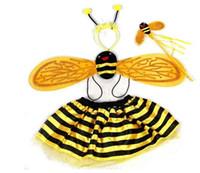 أطفال الجنية الخنفساء النحل الجناح زي مجموعة تنكرية تأثيري أجنحة توتو تنورة العصابة العصابة فتاة بوي حدث عيد الميلاد المرحلة الأداء