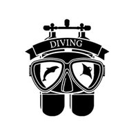 14.5 * 16.7CM Interessanti animali marini Sport Estrema tuta da immersione Decalcomania Vinile Adesivo per auto nero / argento CA-1110