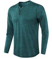 Mens Designer T Shirts Herren V-Ausschnitt Langarm Atmungsaktive Einfarbig Shirts Herren Frühling Kleidung